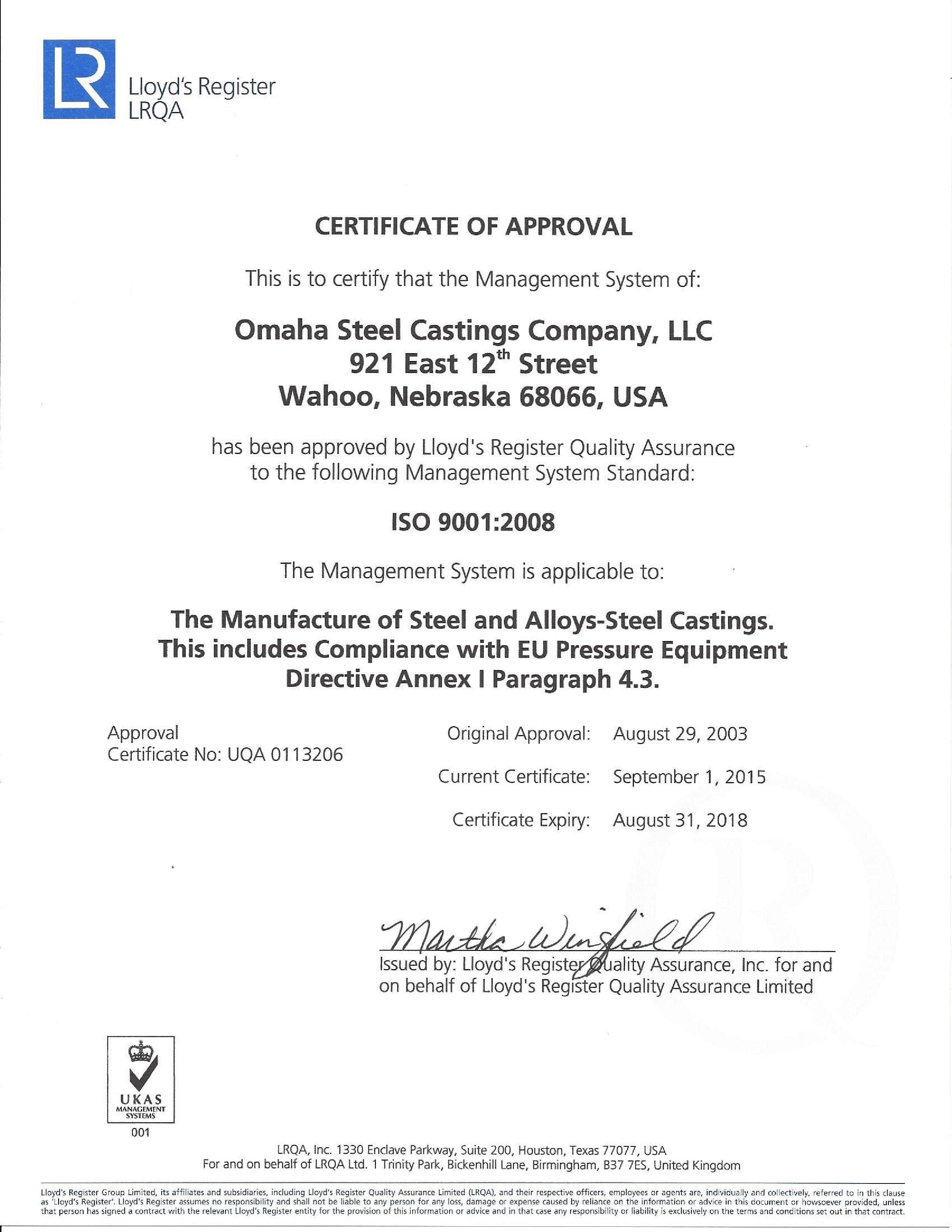 Omaha Steel Certified Processes And People For Better Steel